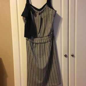 Tory Burch navy patterned dress